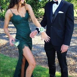 Forest Green Gown/Prom Dress